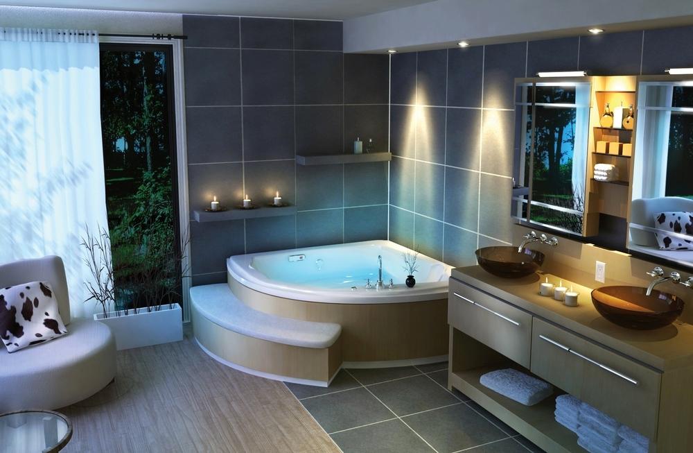 Большие ванные комнаты фото