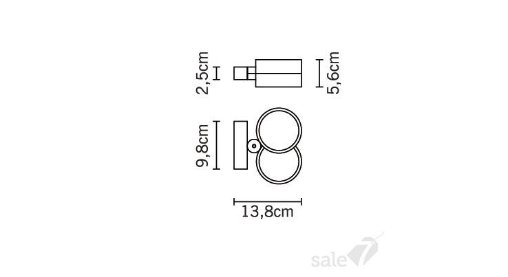 Настенно-потолочный светильник fabbian jazz d52 g07 00